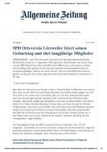 thumbnail of SPD Ortsverein Lörzweiler feiert seinen Geburtstag und ehrt langjährige Mitglieder – Allgemeine Zeitung